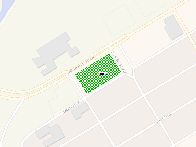 A map of the area immediately surrounding DFRP Property Number 08837