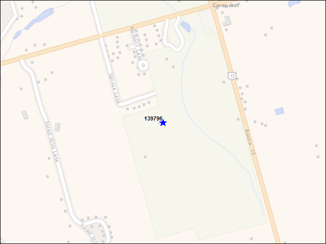 A map of the area immediately surrounding building number 139796