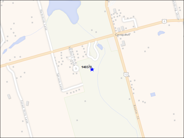 A map of the area immediately surrounding building number 140378